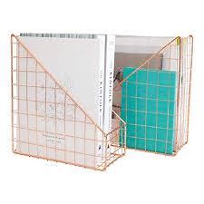 <b>Rose Gold</b> Office Desk Accessories Decorative File <b>Box</b> - Set of 2 ...