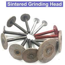 6mm shank stone carving marble tombstone polishing sintering emery grinding wheel sintered diamond head full