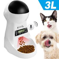 <b>3L Automatic Pet</b> Dog Feeder with Voice Recording Pet Food Bowl ...