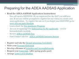 D is for Dentist  April      After submitting your application  AMCAS  AADSAS  AACOMAS  etc   email