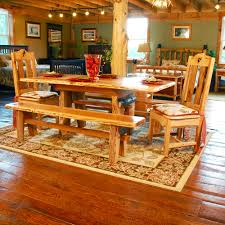 Hickory Dining Room Table Lewis And Clark Rustic Hickory Sapling Table Niangua Furniture