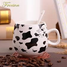 Милая коровья фарфоровая <b>кружка</b> для кофе <b>300</b> мл ...