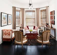 pick furniture with built in storage to limit clutter a trunk or storage ottoman as a coffee table works well along the perimeter of the room try a small apartment scale furniture