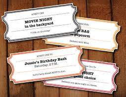 printable coupons tickets vouchers movie night colors 🔎zoom