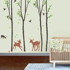 palm tree wall stickers: image of tree wall decals for nursery