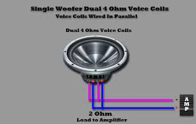 wiring single voice coil subs parallel wiring diagram subwoofer wiring diagrams one 4 ohm dual voice coil dvc speaker