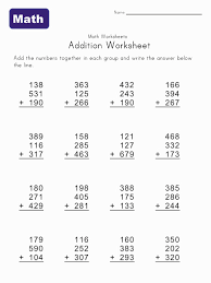 6 Best Images of Printable Grade 4 Math Problem - Printable Math ...Printable Math Addition Worksheets
