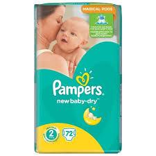 ᐅ <b>Pampers подгузники New Baby-Dry</b> 2 (3-6 кг) 72 шт. отзывы — 2 ...