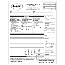 chem dry printing invoices work orders franchise print shop style 5 · invoices work orders