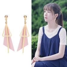 Shuling Ready Stock Fashion <b>irregular triangle stud Earrings</b> ...