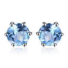 Amazon.com: <b>JewelryPalace Round 1.2ct Natural</b> Blue Topaz Stud ...
