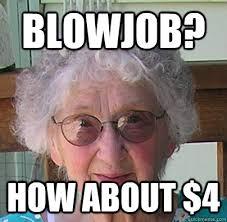 Generous Garage Sale Granny memes | quickmeme via Relatably.com