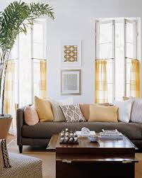 martha stewart living paint colors:  yellow and gray living room courtesy of martha stewart