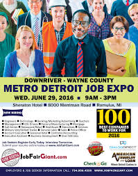 largest michigan job expo features 100 hiring companies image available