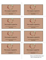 printable love coupons blank love coupons templates