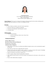 Objective It Resume   Resume Format Download Pdf     Cover Letter  Examples Bank Teller Resume With Professional Skills  Sample  Resume Objectives for Banking