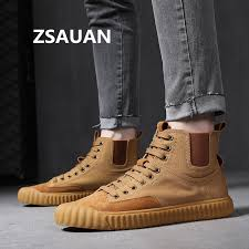 <b>ZSAUAN</b> Stylish Young Men Casual Shoes Ankle Men Chelsea ...