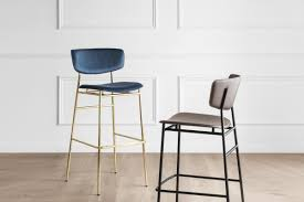 Calligaris fifties leather <b>Retro</b>-<b>Style Stool</b> Counter Height CS/1864-LH
