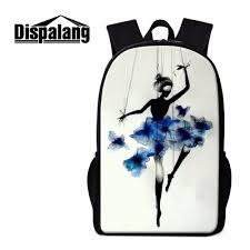 <b>Dispalang</b> Cute Backpack for Girls Ballet Print Girly Pretty Bookbags ...