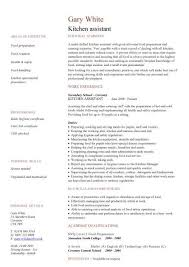 kitchen assistant cv sample