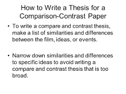 english  and honors english  composition notes thesis outline  how to write a thesis for a comparison contrast paper to write a compare and