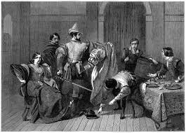 the taming of the shrew c r leslie illustration of act 4 scene 3 petruchio upbraiding the tailor for making an ill fitting dress from the illustrated london news