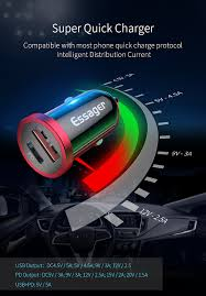 <b>Essager</b> Quick Charge 4.0 3.0 USB Car Charger For <b>iPhone</b> Xiaomi ...