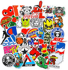 <b>100 Pcs Fashion</b> Brand Cool Stickers For - Buy Online in Suriname ...