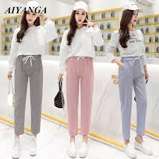 2019 <b>Hot Sale 2019 Spring</b> Autumn Korean Trousers Female High ...