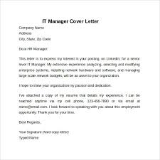 it manager cover letter template technology cover letters