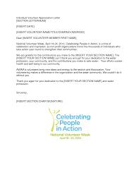 volunteer appreciation letter sample com rich image and volunteer appreciation letter sample