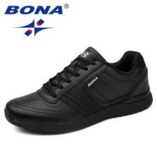 BONA New Popular Style Men Casual Shoes Lace Up Comfortable ...