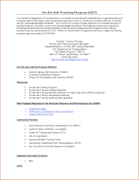 resume sample objectives ojt resume builder resume sample objectives ojt guidance 064 structured on the job training system ojt resume samples career