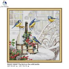 <b>Joy Sunday</b> The Bird on the Milk Bottle Pattern DIY Handmade DMC ...
