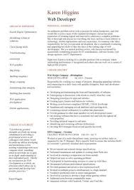 web designer cv sample example job description career history academic qualifications cvs web design resume example