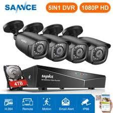 SANNCE 1080P 4CH Außen HDMI Überwachungskamera 5-IN-1 ...