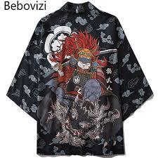 <b>Bebovizi Japanese Style Cat</b> Samurai Kimono Streetwear Men ...