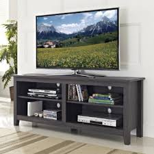 we furniture 58quot wood tv stand storage console charcoal amazoncom furniture 62quot industrial wood