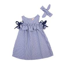 2019 <b>New Hot Summer</b> Toddler Kids Baby Girls Lovely Clothes Blue ...