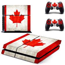 <b>HOMEREALLY PS4 Skin</b> Classic Canadian Flag Design PVC HD ...