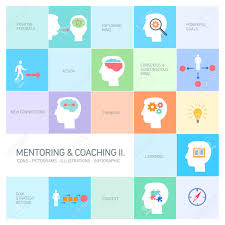 mentoring and coaching soft skills icons set modern flat design vector mentoring and coaching soft skills icons set modern flat design ilustrations infographic isolated on colorful