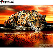 "<b>Dispaint Full Square/Round</b> Drill 5D DIY Diamond Painting ""Animal ..."