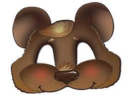 brown bear <b>halloween</b> kids mask | Paper <b>toy</b> printable, Paper <b>toys</b> ...