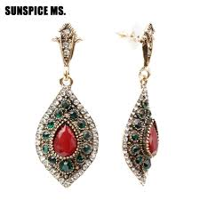 SUNSPICE MS Turkish <b>Retro Vintage Dangle Earring</b> For <b>Women</b> ...