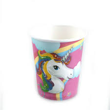 <b>10pcs Unicorn cups</b> kids birthday party supplies Unicorn paper ...