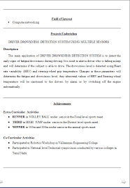 Resume Samples For Freshers Bba   Format Of Resume In Ms Word Download