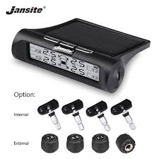 jansite smart car tpms tyre pressure monitoring system solar power digital lcd display auto security alarm systems