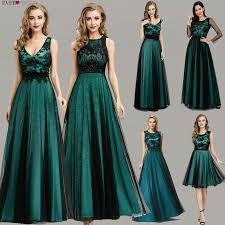 <b>Elegant Dark Green</b> Evening Dresses Long Ever Pretty EZ07965 A ...