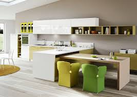 Contemporary Kitchen Rugs Kitchen Delectable Open Plan Modern White Kitchen Idea With