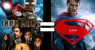 are batman v superman iron man 2 basically the same movie batman superman iron man